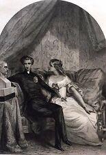 Napoléon II Duc de Reichstadt Roi de Rome buste Bonaparte gravure 1853 Empire