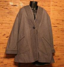 Coat Wool Women's 22W Plus Gray Hooded One Button Heavy Very Veranesi Excellent