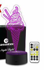 Easuntec Baby Night Light Ice Cream Night Light 7 Colors Change with Timer Remot