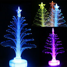 LED Xmas Tree Light Up Chrismas Ornament Color Changing Small Night Light Decor