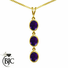 Natural Amethyst Yellow Gold Fine Necklaces & Pendants
