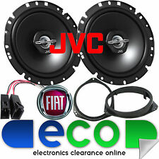 "FIAT Grande Punto 2005-09 JVC 17cm 6.5"" 600 Watts 2 Way Front Door Car Speakers"