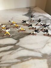 Vintage Plastic Football Player Game Pieces 6 Yellow 7 Black