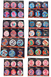 Birthday Badge Pink  Blue Badges 1st 2nd 3rd 4th 5th Girls Boys Party Badges