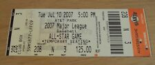 """July 10, 2007 Ticket AT&T Park """"ALL-STAR GAME""""~Major League BASEBALL~Giants~"""