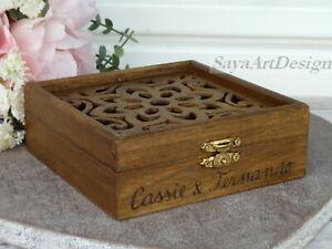 Wedding Coins Box. Personalized, Engraved Arras Box. Ducat Box. Wedding Gift Box