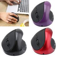 Mouse 1600DPI drahtlose vertikale aufladbare Maus USB 2.0 SpielMäuse für Laptop