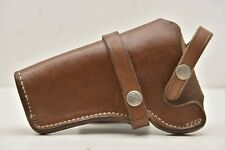 "Vtg S&W Sportsman Brown Leather Holster 20 24 For S&W Mod 28 28 4"" Revolver"