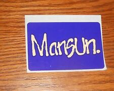 Mansun. Sticker Rectangle Promo 3x2 Paul Draper Alternative Rock