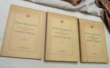1949, 3 Vol, Plan Decennal..10-Year Plan for Economic and Social..Belgian Congo