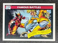 1990 Impel Marvel Universe #119 Famous Battles Wolverine vs Sabretooth Centered