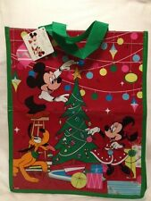 Christmas Mickey Shopping Tote Gift Bag Minnie Disney UK New Pluto Reuse Holiday