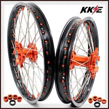 KKE 21/19 MX WHEELS SET KTM SX-F SX XCW XC 125 150 250 300 350 450 ORANGE NIP