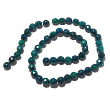 Azurite Chrysocolla Jasper Faceted Round Beads 8mm Each 15 Inch Strand MM17/2