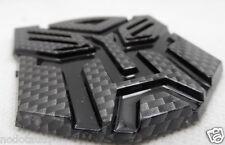 Car Transformers Autobot Carbon Fiber Black Motorcycle Emblem Badge Stickers