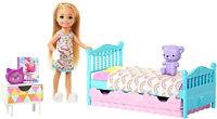 Barbie Club Chelsea Bedtime Playset Kid Toy Gift