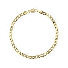 18k Gold F 26cm 10'' Bangle Bracelet 4mm Solid Curb Link Chain AUS MADE