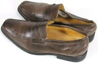Sandro Moscoloni $120 Men's Penny Loafers Shoes Size 12 Slip-Ons Leather Brown
