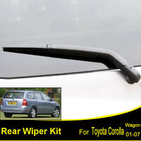Tailgate Rear Windshield Wiper Blade Arm Set For Toyota Corolla Wagon E12 02-07