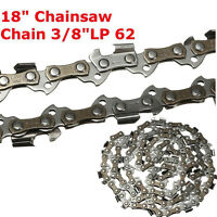 "18"" Chainsaw Saw Chain Blade Sears 3/8"" LP .050 Gauge 62DL Link Accessory New"