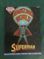 Amazing World of Superman FN/VF (7.0) White Pages - 4 Page Map of Krypton Poster