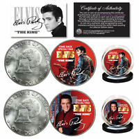 ELVIS PRESLEY 1968 Comeback Special Official 1976 Bicentennial IKE 2-Coin Set