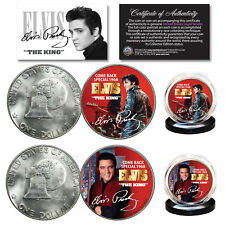 ELVIS PRESLEY 1968 Comeback Special Official 1976 Bicentennial IKE 2-Coin Set