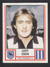 Panini - Football 81 - # 334 Gary Owen - West Bromwich Albion