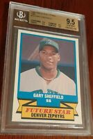 1988 CMC AAA All-Stars Denver Zephyrs Gary Sheffield XRC RC Rookie BGS 9.5 QUADS