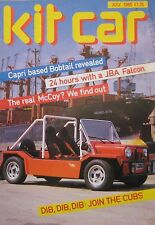 Kit Car magazine 07/1985 featuring McCoy, Cub, JAB Falcon, Bobtail, DAX Cobra