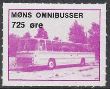 Denmark Mons Omnibusser unused 725o Local Bus Parcel stamp