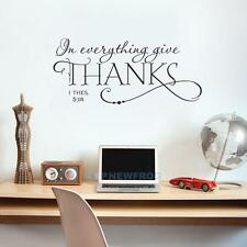 In Everything Give Thanks 1 Thessalonians 5:18 Bible Quotes Wall Decals Sti TN2F