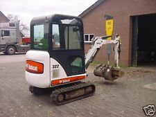 BOBCAT 322 ( X322 ) Compact Excavator Service ,Operator's and Parts Manual CD