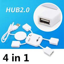 Hot Sale 4 Port USB 2.0 High Speed Hub for PC Laptop Doll Man Design White
