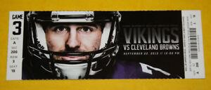 Minnesota Vikings Ticket Stub | September 22 2013 | Josh Gordan Jordan Cameron