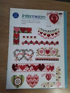 Vintage 1994 Coats Intermezzo Hearts Love  Romance Cross Stitch Charts