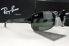 NEW Ray Ban Tech RB 8316 002 IN FIBRA DI CARBONIO/Gunmetal Lente verde G15 Occhiali da sole