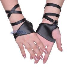 Damen/Damen Halb Palm-gurt Handschuhe Fingerlose Stangentanz Jazz Schwarz Mode