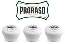 Proraso Shaving Soap Jars, PACK OF 3, White Jars 150ml