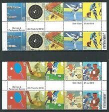 Grande-Bretagne 2010 JEUX OLYMPIQUES Gutter bandes non montés excellent état,MNH