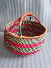 Brand New Beautiful Hand Crafted High Quality Large Polychrome Basket