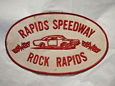 Rapids Speedway Rock Rapids Iowa  Dirt Track Racing Patch  Vintage Ex Lg