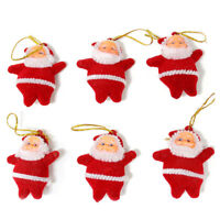 6pcs Christmas Santa Claus Ornaments Festival Party Tree Hanging Decoration JR