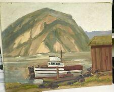 "Listed Artist Amy L.Walton 1965 Oil/C ""Morro Bay California"