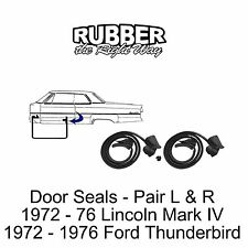 1972 - 1976 Ford Thunderbird Door Seals - pair R & L