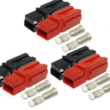 3 x 75a Black Red Electrical Battery Plug Connector for Recovery Winch Auto SUV
