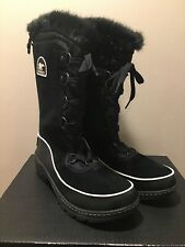 Sorel Womens 8 Tivoli III High Black Leather Suede Winter Snow Waterproof Boots