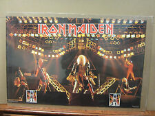 Vintage Iron Maiden 1982 poster heavy metal rock band artist music 3615