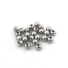 LOT de 100 PERLES RONDES LISSES 3mm ACIER INOXYDABLE trou 1mm création bijoux
