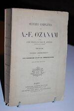 LES GERMAINS AVANT LE CHRISTIANISME Etudes germaniques Tome 3  OZANAM 1872